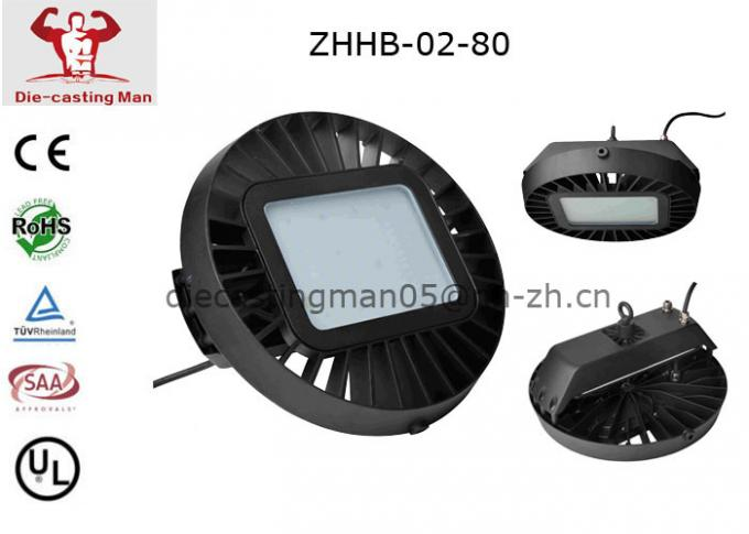 Round 2700-6500k 80 Watt IP65 Led Highbay Lights 60 90 120 Degree