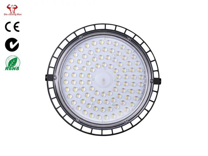 Black And Grey Led High Bay Light Fixtures / 150W High Bay Led Lighting ZHHB-04-150