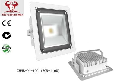 China White Waterproof 100 W COB Led Street Light Fixtures High Lumen For Gas Station factory
